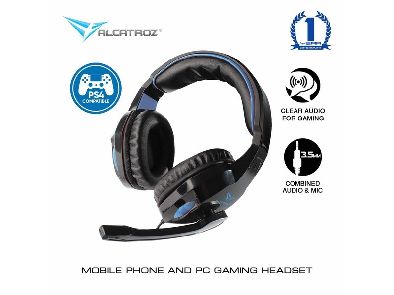 ALCATROZ Alpha MG300A Gaming Headset with Mic - PS4 Compatible (Black)