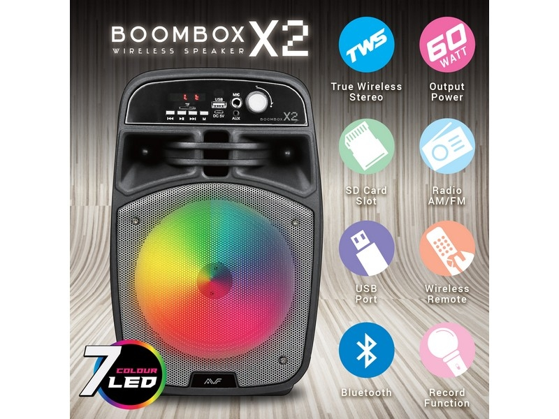 AVF BOOMBOX X2 60 Watt Wireless Portable Speaker