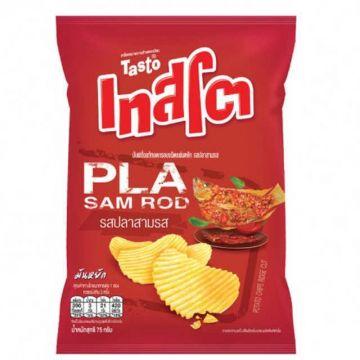 Thailand Tasto Potato Chips -Flavour Pla Sam Ro 48g