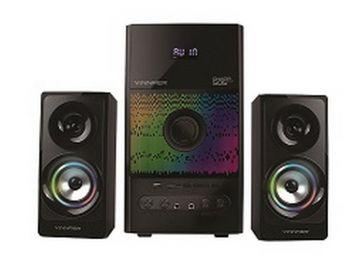 VINNFIER Champ505 BTRM 2.1 Speaker with 7 Modes LED Lights, Karaoke System, Bluetooth, FM Radio, USB and SD Card Slot