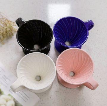 MOJAE Ceramic V60 Diamond Shape Pour Over Coffee Dripper