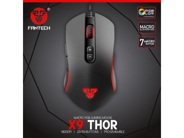 FANTECH X9 THOR WIRED MACRO RGB 4800DPI 7 BUTTONS GAMING MOUSE