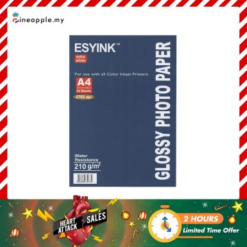 ESYINK 210 gms A4 Glossy Photo Paper (A4 x 50 sheets)