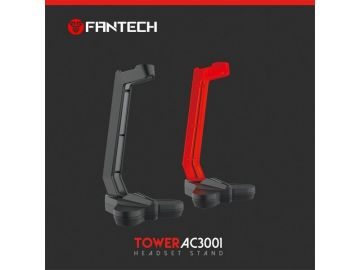 FANTECH HEADSET STAND TOWER AC3001 Anti Slip Design Rubberized Base Balance Stabilization Headset Stand With Detachable Body