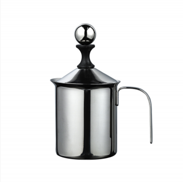 Stainless Steel Manual Milk Frother Double Mesh Coffee Cappuccino Foamer Creamer 800ML