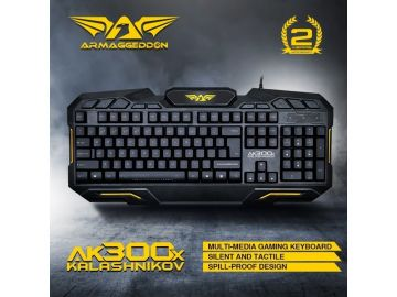 Armaggeddon AK300x Kalashnikov USB Media Gaming Keyboard