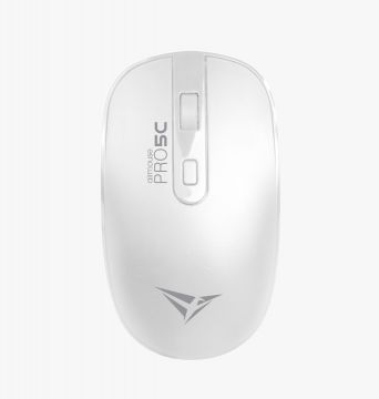 ALCATROX Airmouse Pro 5C Wireless Silent Mouse (White)