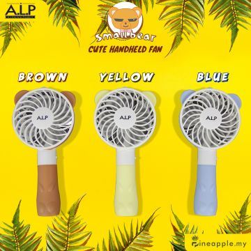 ALP Cute Bear Fan Mini Portable Handheld Fan USB Rechargeable Fan (KFAN007)
