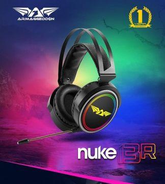 ARMAGGEDDON Nuke 13R 7.1 Surround Sound RGB Gaming Headset (Black)