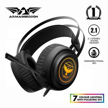 Armaggeddon Atom 7 (7 Colour Lighting) Gaming Headphones Headset for PC and Laptop