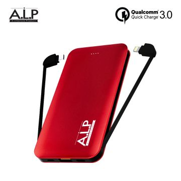 ALP Attached 10,000mAh PD Fast Charging Powerbank (Type-C & IOS Lightning Cables)