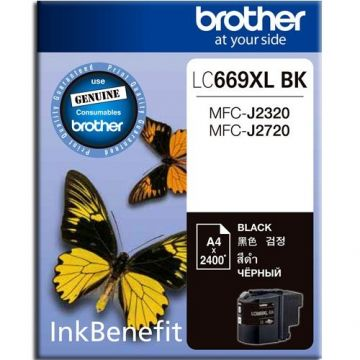 BROTHER LC-669XL Black Ink Cartridge (2,400 pages)