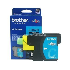 BROTHER LC-67 Cyan Ink Cartridge (325 pages) (LC67C)
