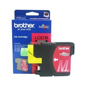 BROTHER LC-67 Magenta Ink Cartridge (325 pages) (LC67M)