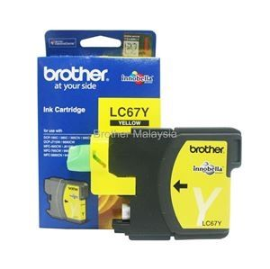 BROTHER LC-67 Yellow Ink Cartridge (325 pages) (LC67Y)