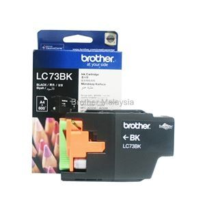 BROTHER LC-73 Black Ink Cartridge (600 pages) (LC73BK)