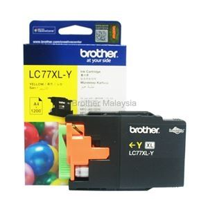 BROTHER LC-77XL Yellow Ink Cartridge (1,200 pages)