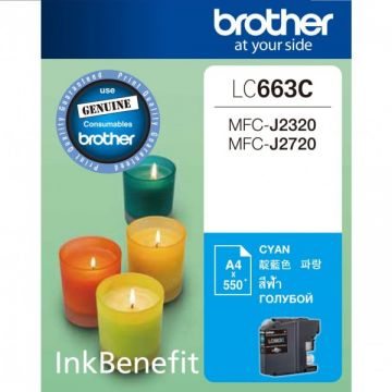 BROTHER LC-663 Cyan Ink Cartridge (550 pages)