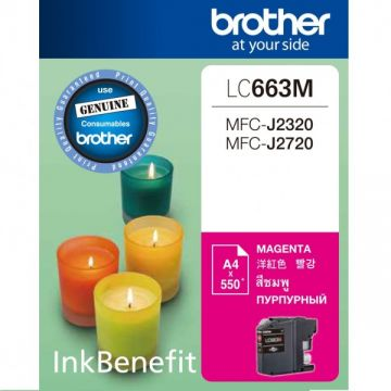 BROTHER LC-663 Magenta Ink Cartridge (550 pages)
