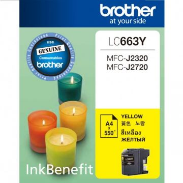 BROTHER LC-663 Yellow Ink Cartridge (550 pages)