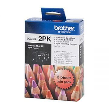 BROTHER LC-73BK-2PK Black Twin Pack Ink Cartridge (600 pages x 2) (LC73BK-2PK)
