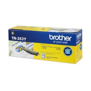 BROTHER TN-263 Yellow Toner Cartridge (1,300 pages)