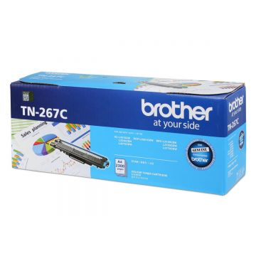 BROTHER TN-267 Cyan Toner Cartridge (2,300 pages)