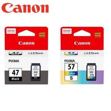 CANON PG-47 Black + CL-57S Color Ink Cartridge (Promo Bundle) (PG47)