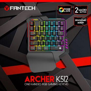 Fantech Archer One-Handed RGB Gaming Keypad K512