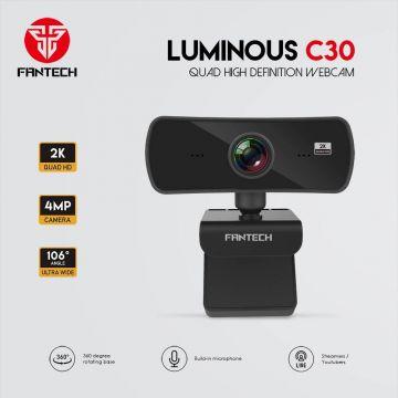 FANTECH Luminous C30 4MP 1440p 2K Quad HD Webcam with build-in mic