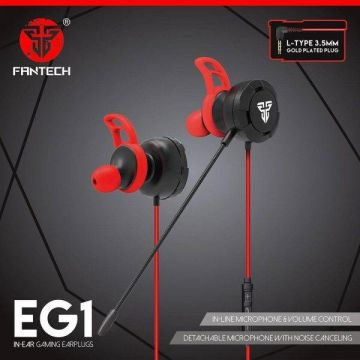 FANTECH EG1 3.5mm IN-EAR Gaming Earplugs Earphone with Noise Canceling Detachable Microphone and Volume Control