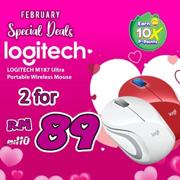 February Specials - 2 Units x Logitech M187 Ultra Portable Wireless Mouse