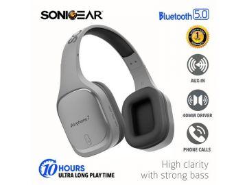 SonicGear Airphone 7 Bluetooth Headphones With Mic (Gun/Metal)