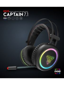 FANTECH HG15 (CAPTAIN 7.1) Advance 7.1 Virtual Surround Sound Engine USB Power Full Size Programable LED RGB True 7.1 Surround Sound Gaming Headset with Noise Cancellation Microphone