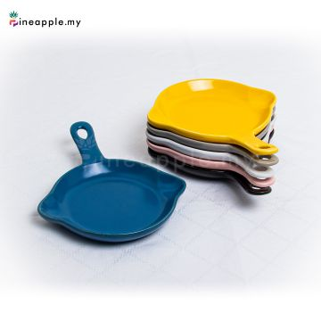 Ceramic Round Plate With Handle