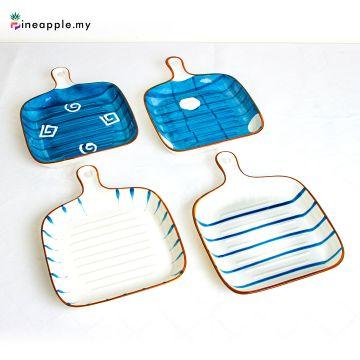 Ceramic Single Handle Square Baking Pan