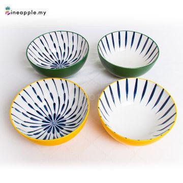 Ceramic 6 Inch Plate With Flower & Leaf Design