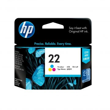 HP 22 Tri-Color Ink Cartridge (5ml - 165 pages) (HP22C)