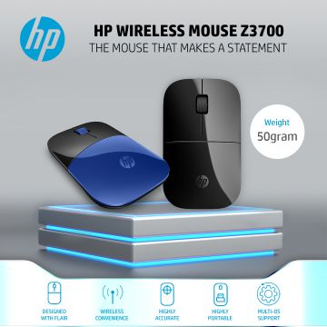 HP Wireless Mouse Z3700 with USB Nano Receiver & Blue LED Technology