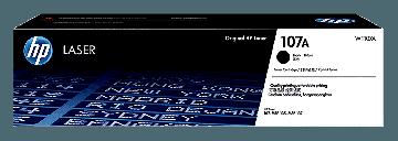 HP 107A Black Original Laser Toner Cartridge (1,600 pages) (W1107A)