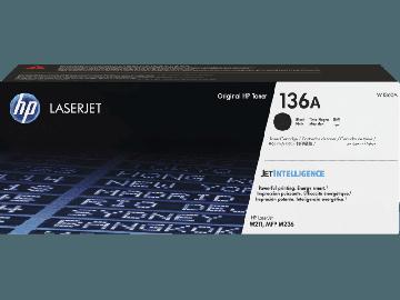 HP 136A Black Original LaserJet Toner Cartridge (1,150 pages) (W1360A)