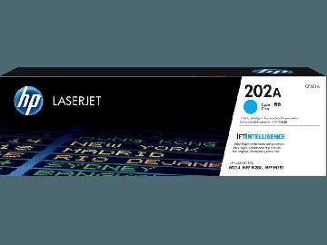 HP 202A Cyan Original LaserJet Toner Cartridge (1,300 pages) (CF501A)