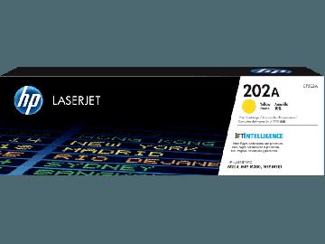 HP 202A Yellow Original LaserJet Toner Cartridge (1,300 pages) (CF502A)