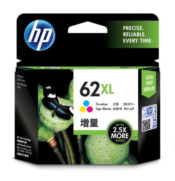 HP 62XL High Yield Tri-color Ink Cartridge (415 pages) (C2P07AA) (Original)