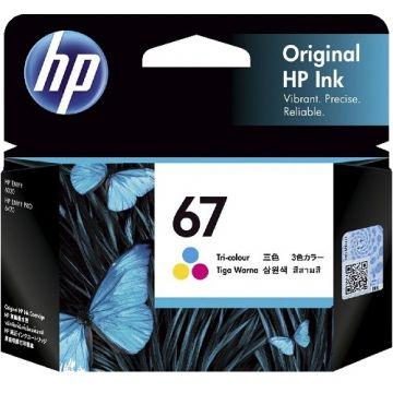 HP 67 Tri-Color Original Ink Cartridge (100 pages) (3YM55AA) (HP67)
