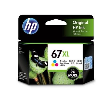HP 67XL High Yield Tri-color Original Ink Cartridge (200 pages) (3YM58AA) (HP67)