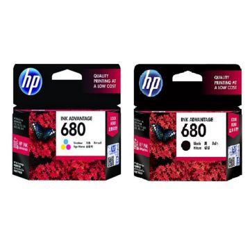 HP 680 Black + HP 680 Tri-color Original Ink Advantage Cartridge (Promo Bundle) (HP680)