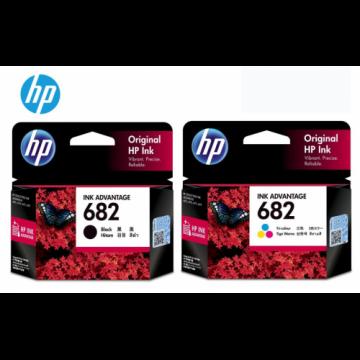 HP 682 Black + HP 682 Tri-color Original Ink Advantage Cartridge (Promo Bundle) (HP682)