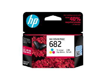 HP 682 Tri-Color Ink Advantage Cartridge (150 pages) (3YM76AA) (Original)