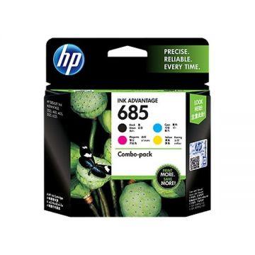 HP 685 Ink Advantage Cartridge Combo Pack (4-pack BK/C/M/Y) (F6V35AA) (Original)